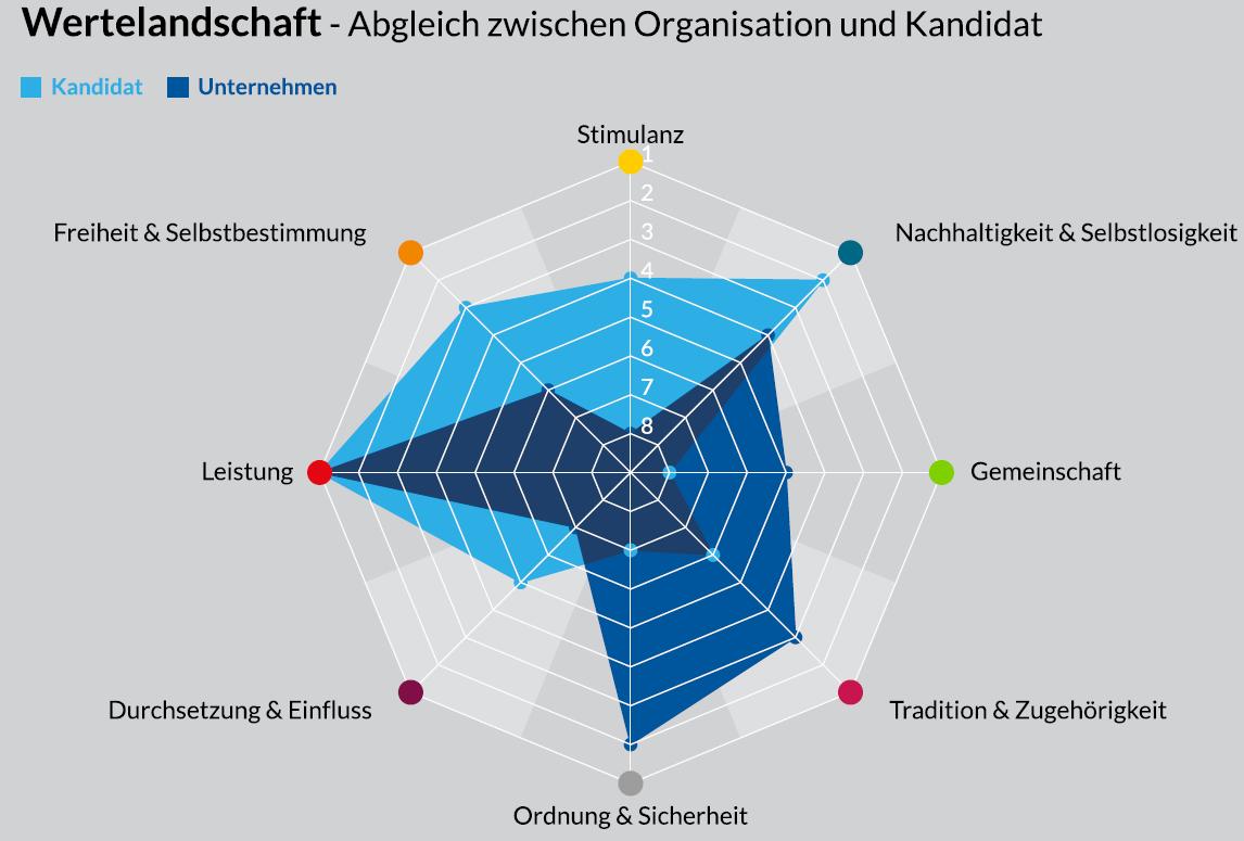 Cultural Fit Evalueator - Die Wertelandschaft im Abgleich zwischen Organisation und Kandidat